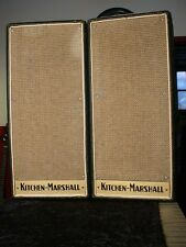 "1968 Kitchen Marshall PA Cabinets 2X8"" Celestions Basketweave Cloth Plexi Badge"