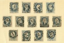 US Stamps Collection - Scott #182 x 13 FANCY CANCELS - Philadelphia Numerals $78