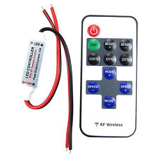 Mini 12V RF Wireless Remote Switch Controller Dimmer for LED Strip Light