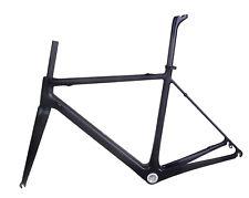 850g 25C Carbon Road Bike Frameset Fork Seatpost Di2 UD Matt Racing 56cm BSA