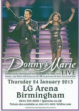 OSMONDS Donny and Marie 2013 Tour UK FLYER / mini Poster 8x6 inches