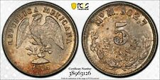 MEXICO 1901 Mo Silver 5 Centavos - PCGS MS63 - Only 1 graded higher