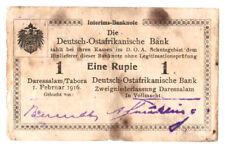 Deutsch Ostafrika 1 Rupie 1916 Seriennummer 23741 handschriftlich verbessert