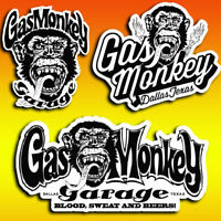 lot 3 stickers autocollant Gas Monkey Garage decal Gaz Monkey garage