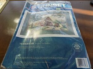 Sunset YESTERYEAR 13597 Counted Cross Stitch Kit New