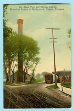 1909 SMYRNA DE Railway Station & Factory Smokestack DELAWARE
