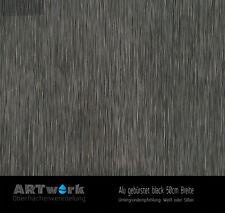 Wassertransferdruck Folie WTD Alu gebürstet Black 1m x 50cm Breite