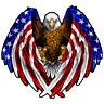 Bald Eagle USA American Flag Car Truck Window Decal Sticker Vinyl Yeti Patriotic