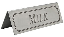 Stainless Steel Milk Sign Table Bar Pub Restaurant Table Top Beaumont cafe