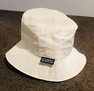 Stussy NWT white Bucket Hat Size L/XL Polyester