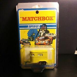 Matchbox Lesney #43 Pony Trailer With Dark Green Base Blister Pack VM