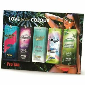 New Pro Tan Sunbed Tanning Salon Lotion Cream Counter Display Deal 60 SACHETS