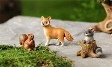 FAIRY GARDEN Miniature ~ Woodland Animals Set of 3 ~ Mini Dollhouse