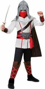 Boys Assassins Creed Ninja Party Fancy Dress Costume Samurai Warrior Child Kids
