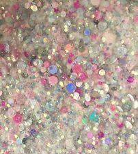 Mixed Nail Glitter Gel/acrylic Nail Multi Colour Pink 6g Bag Bubbles Mix 2