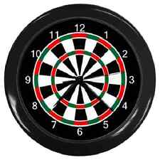 DARTS BOARD DARTS DARTBOARD THEME WALL CLOCK **GREAT ITEM**