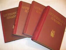 STORIA DELLA LETTERATURA ITALIANA 4 VOLUMI - ARTURO POMPEATI - UTET 1944
