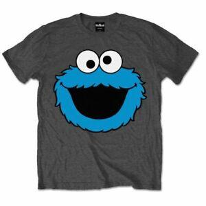 ** Cookie Monster Face Sesame Street Official Licensed  T-Shirt