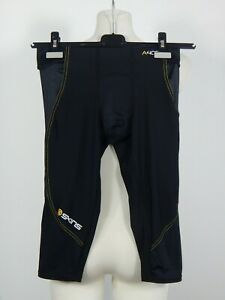 Skins A400 men's black and yellow compression 3/4 tights size M