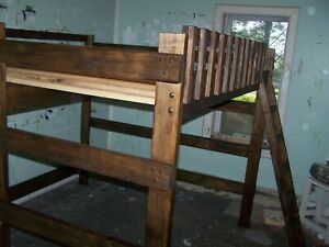 HEAVY DUTY QUEEN SIZE LOFT BED 68 inches tall