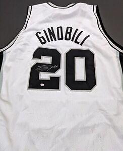 Manu Ginobli San Antonio Spurs Autographed Signed Jersey COA