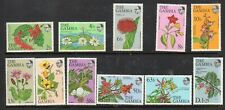 GAMBIS STAMPS 1977 FLOWERS  SHORT SET MINT NEVER HINGED
