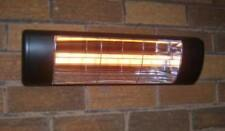 INFRA-RED WALL Heater - Black with 'softglow' lamp FOR PATIO, CONSERVATORY ETC