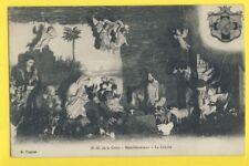 cpa Rare PARIS MENILMONTANT Chapelle ND de la CROIX La CRÊCHE de NOËL vers 1900