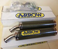 APRILIA RS 250 KEVLAR Schalldämpfer Satz ARROW 2-Loch RACE exhaust muffler i2550