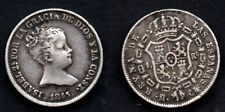 ESPAGNE   1 REAL 1845 MADRID  ISABEL II   ETAT !!!!
