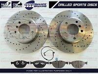 FOR BMW F10 F11 520 525D FRONT PERFORMANCE DRILLED BRAKE DISCS MEYLE PADS SENSOR