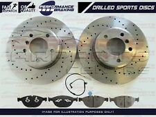 FOR BMW E60 E61 535 535D M SPORT FRONT PERFORMANCE DRILLED BRAKE DISCS PADS WIRE