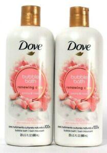(2 Count) Dove Renewing Care Peony & Rose Natural Nourishers Bubble Bath 23 Oz