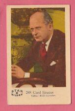 1960s Swedish Film Star Card Star Bilder B #248 German Actor Curd Curt Jurgens