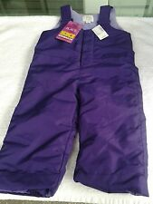 Kids Ski Overalls by The Children's Place Color Purple Size 18-24 mos New