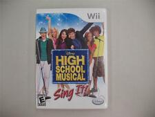 Nintendo Wii DVD Video Game Disney High School Musical Sing It! ESRB Rated E