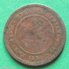 1872H Straits Settlement 1/2 Cent SNo19495