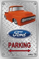 Parking Sign - Metal - Ford F100 - 1955 - 1956 - Custom - ORANGE TRUCK