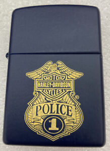 Vintage 2005 Zippo Harley-davidson Police # 1 Lighter In Original Tin New