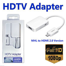 MHL 2.0 Micro USB to HDMI Cable HDTV Adapter Lead 1080P Samsung S3 S4 Note 2 3