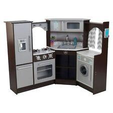 NEW KidKraft Ultimate Corner Play Kitchen, Espresso
