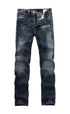 FOX JEANS Men's Todd Straight Distressed Blue Denim Mens Jeans SIZE 32
