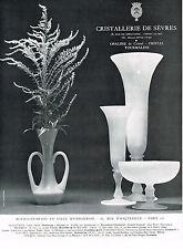 PUBLICITE ADVERTISING 1961 CRISTALLERIE DE SEVRES  cristal Tourmaline & OPALINE