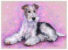 artav Wire Fox Terrier Art Print from Original Pastel