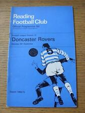 06/09/1969 Reading v Doncaster Rovers [Includes Press Clipping] (Slight Fold & R