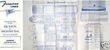 1964 QUEEN OF BERMUDA Deck Plan - Excellent - NAUTIQUES sHiPs WORLDWIDE