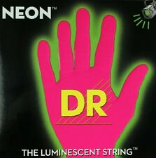 DR NPE-7-11 Neon Pink Fluorescent Electric Guitar strings 7 String Set 11-60