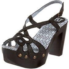 Fly London Chaussures Femme 36 Sun Sandales Compensé Escarpins Salomés Neuf UK3