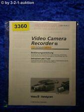 Sony Bedienungsanleitung CCD FX730VE /FX830VE Video 8 Camera Recorder (#3360)