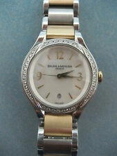 "BAUME MERCIER ILEA SS/18K DIAMONDS .62CTW WATCH ""MINT"""